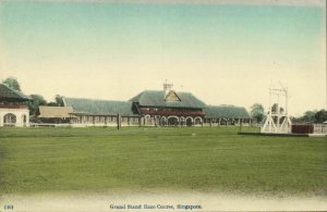 singapore, Grand Stand Horse Race Course (1910s) Postcard