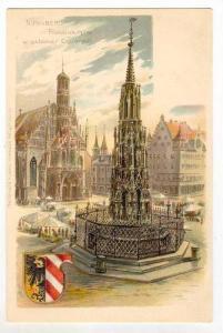 Nurnberg, Frauenkirche u. schoner Brunnen, Germany, 1890s