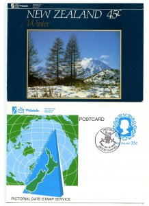 New Zealand - Two Philatelic Interest Postcards