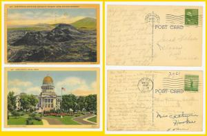 2 Idaho-Craters of the Moon, State Capital - 1940's