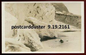 2161 - MT. ROBSON BC 1920s Tumbling Glacier. Real Photo Postcard by Slark