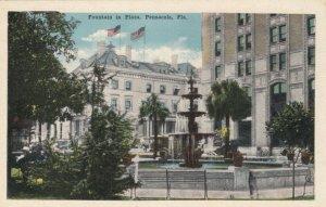 PENSACOLA , Florida, 1900-10s; Fountain in Plaza