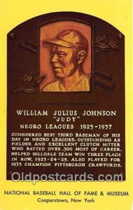 Baseball Postcard Base Ball Post Card William Julius Johnson, Judy Hall of Fa...