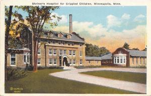 Minneapolis Minnesota~Shriners Hospital for Crippled Children~1920s Postcard