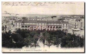 Old Postcard Tunisia Bizerte Square and the grand hotel