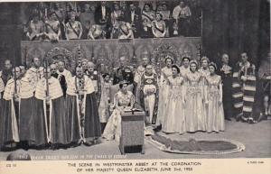 Scene At Westminster Abbey At Coronation Of Queen Elizabeth 2 June 1953 Tucks