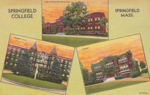 Massachusetts Springfield Administration Building Alumni Hall & Library Sprin...