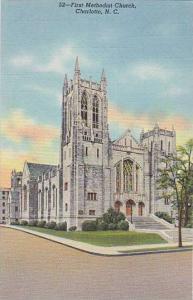 Exterior,  The First Methodist Church,  Charlotte,  North Carolina,  30-40s