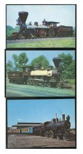 3 Train Postcards B&O RR Thatcher Perkins William Mason Wilmington & Western