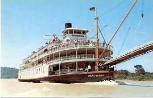 Steamship S.S. DELTA QUEEN  Cincinnati, Ohio, 50-60s