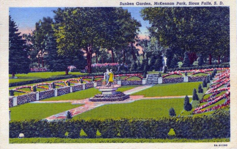 [ Linen ] US So. Dakota Sioux Falls - Sunken Garden
