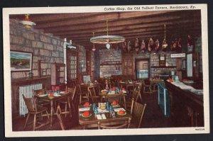 Kentucky BARDSTOWN Interior Coffee Shop Historic Old Talbott Tavern White Border