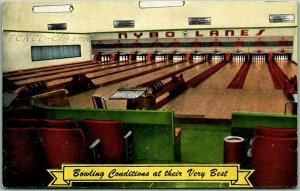 RED WING, Minnesota Postcard NYBO LANES Bowling Conditions At Their Very Best