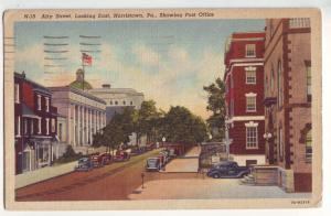 P740 ca1950 airy st. norristown penn old cars and post office