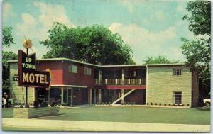 Lebanon, Tennessee Postcard UP TOWN MOTEL Route 231 Roadside 1964 Cancel