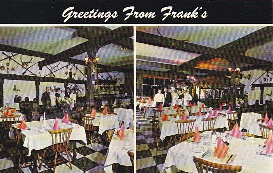 Canada Greetings From Frank's Steak House and Tavern Restaurant Niagara Falls...