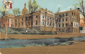 LPN95 Trenton New Jersey Postcard State House from River Capitol Building