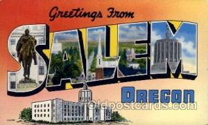 Salem, Oregon Large Letter Town Towns Post Cards Postcards  Salem, Oregon USA