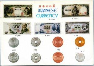 postcard Japan - Japanese Currency