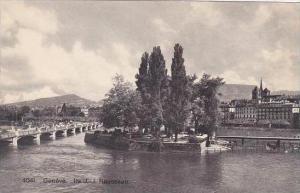 Switzerland Geneve Ile J J Rousseau