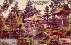 TEA HOUSE AND ENTRANCE JAPANESE TEA GARDEN GOLDEN GATE PARK SAN FRANCISCO 1920
