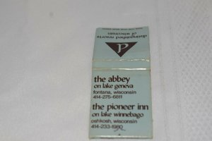 Distinguished Resorts of Wisconsin The Abbey 20 Strike Matchbook Cover