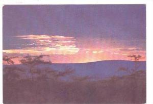 Panoramic landscape, Sun Set, KENYA, 50-70s