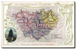 Postcard Old MAPS Chocolaterie d & # 39Aiguebelle Upper Loire Saitn Michel Le...