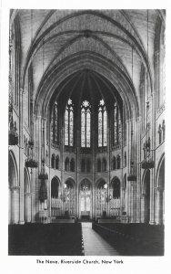 RPPC Riverside Church The Nave Seats 2,000 New York New York