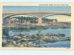 Linen BRIDGE SCENE Lowell Massachusetts MA H8666