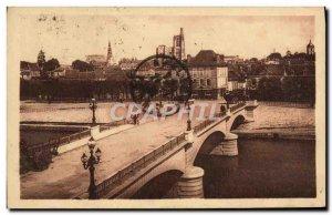 Old Postcard Sens New Bridge