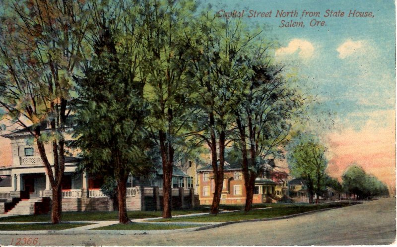 Salem, Oregon - A view of Capitol Street, North from the State House - in 1915