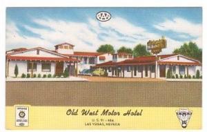 Old West Motel US 91 466 Las Vegas Nevada postcard