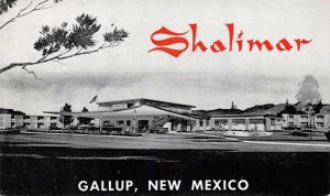SHALIMAR Gallup, New Mexico Route 66 Roadside Vintage Postcard ca 1960s