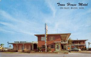 Biloxi Mississippi~Town House Motel~Diners Club~Roadside US 90~1950s Cars