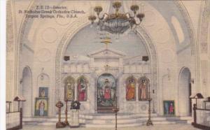 Florida Tarpon Springs Interior View Of St Nicholas Greek Orthodox Church 195...