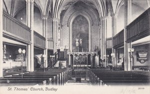 DUDLEY, Worcestershire, England, PU-1912; St. Thomas Church, Interior View