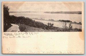 Keokuk Iowa~Narrow Road Along the Mississippi~Jetty Along the Shoreline~1905 B&W