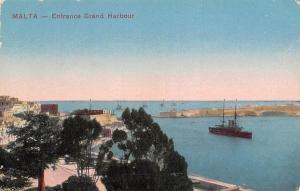 Malta Entrance Grand Harbour Ship Schiff Promenade Panorama