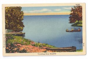Greetings from Maine Curteich 1950 Linen Postcard
