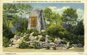 Col. Drake Monument Titusville PA Unused