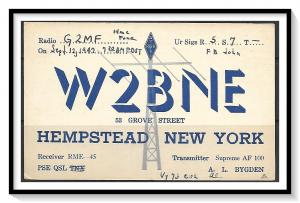 New York, Hempstead QSL Ham Radio - (MX-0113)