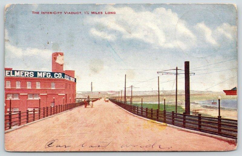 Kansas City Missouri~Railroad Tracks by Elmers Mfg. Co.~Inter-City Viaduct~1907