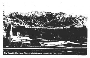 Utah Salt Lake City The Wasatch Mountains From State Capitol Grounds Real Photo