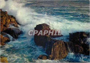 Modern Postcard Storm on the Riviera