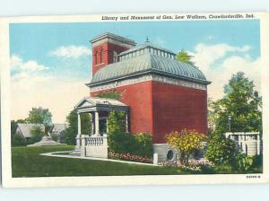 Linen LIBRARY SCENE Crawfordsville Indiana IN hs2593