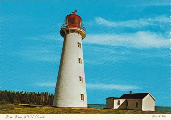 Canada Prince Edward Island Point Prim Lighthouse
