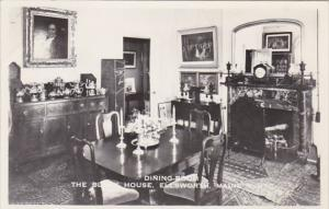 Maine Ellswworth The Black House The Dining Room Real Photo