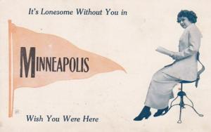 Minnesota Minneapolis It's Lonesome Without You 1913 Pennant Series