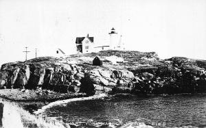 York ME Nubble Lighthouse B14-C Real Photo Postcard